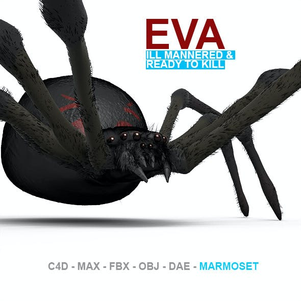 Eva High Poly Spider Model