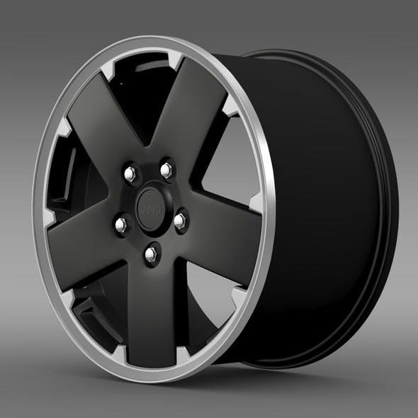 Jeep Wrangler black rim - 3DOcean Item for Sale