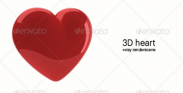 Heart 3d Model - 3DOcean Item for Sale