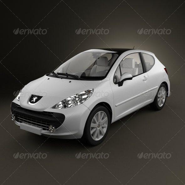 Peugeot 207  - 3DOcean Item for Sale