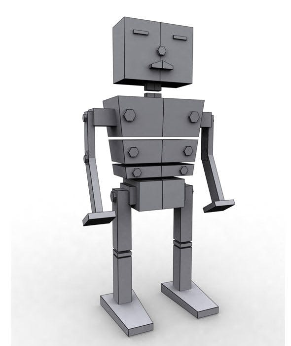 Low Poly Box Robot - 3DOcean Item for Sale