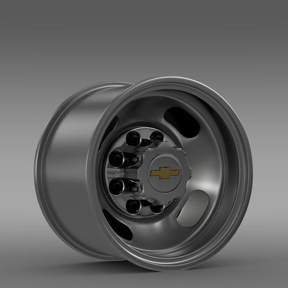 Chevrolet Silverado 3500HD 2008 rear rim - 3DOcean Item for Sale