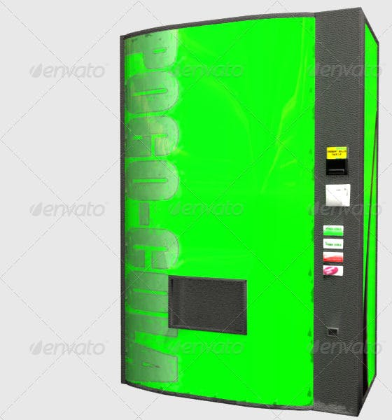 Low Poly Soda Machine - 3DOcean Item for Sale