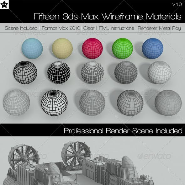 15 Wire Frame Materials 3ds Max