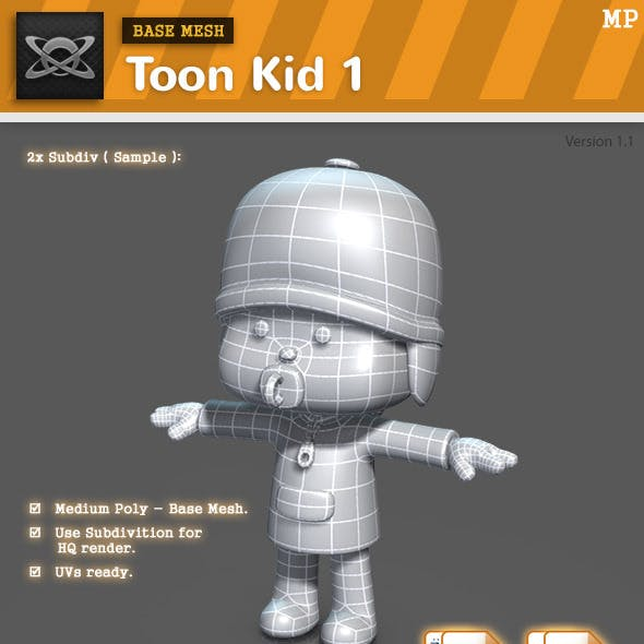 Base Mesh - Toon Kid 1