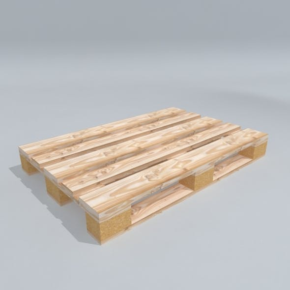 Low Poly 3D Model Wood Pallet