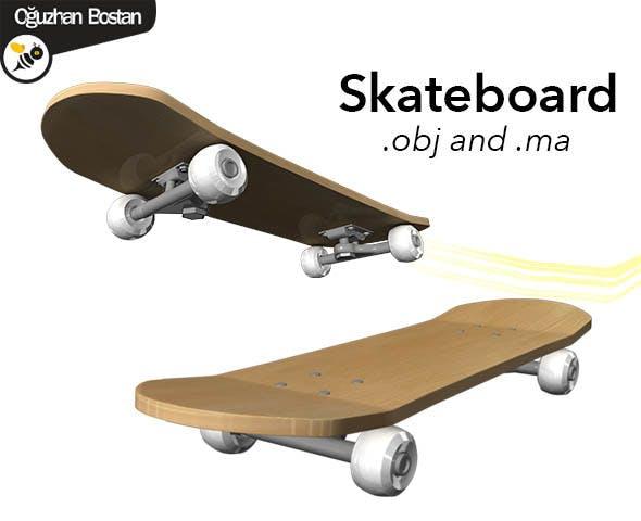 Skateboard - 3DOcean Item for Sale