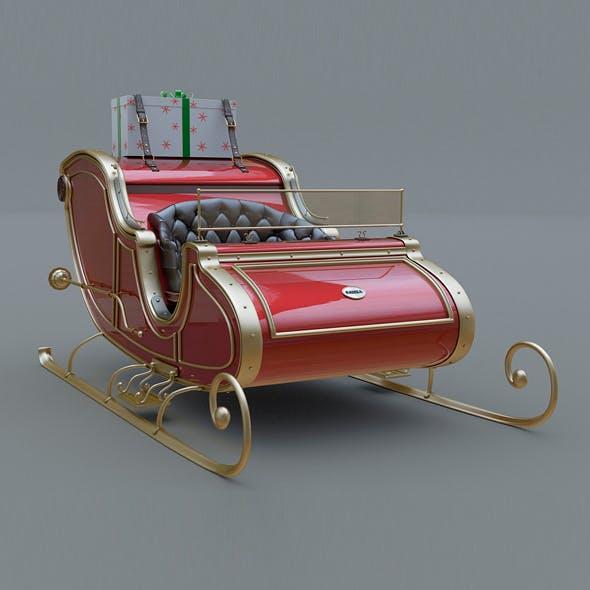 Santa Claus Sled - 3DOcean Item for Sale
