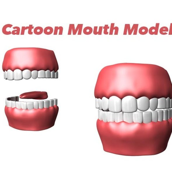 Cartoon Mouth Model