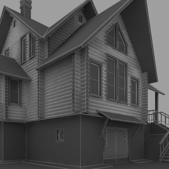 34b two storey log house