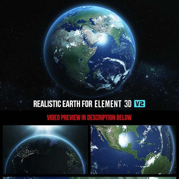 Realistic Earth - Element 3D