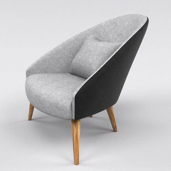 Blak and white chair (armchair)