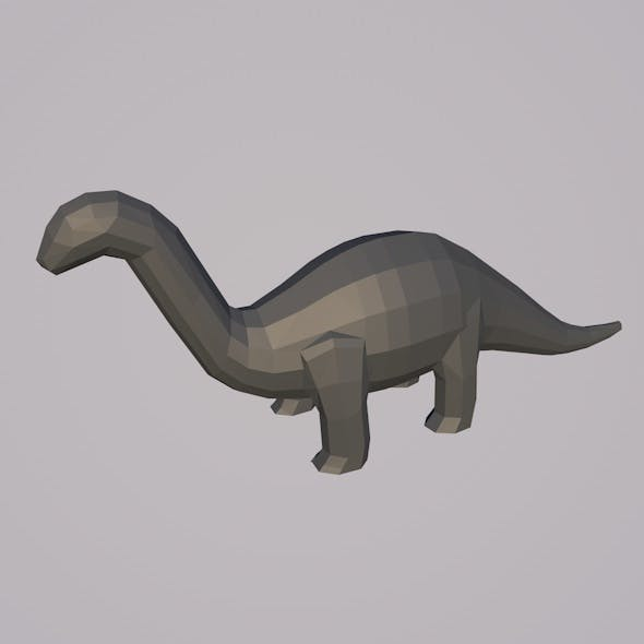 Low-poly Brachiosaur Mesh