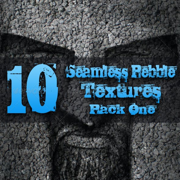 10 Seamless Pebble Textures - Pack One