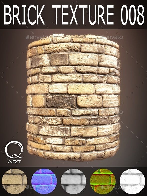 Brick Textures 008 - 3DOcean Item for Sale