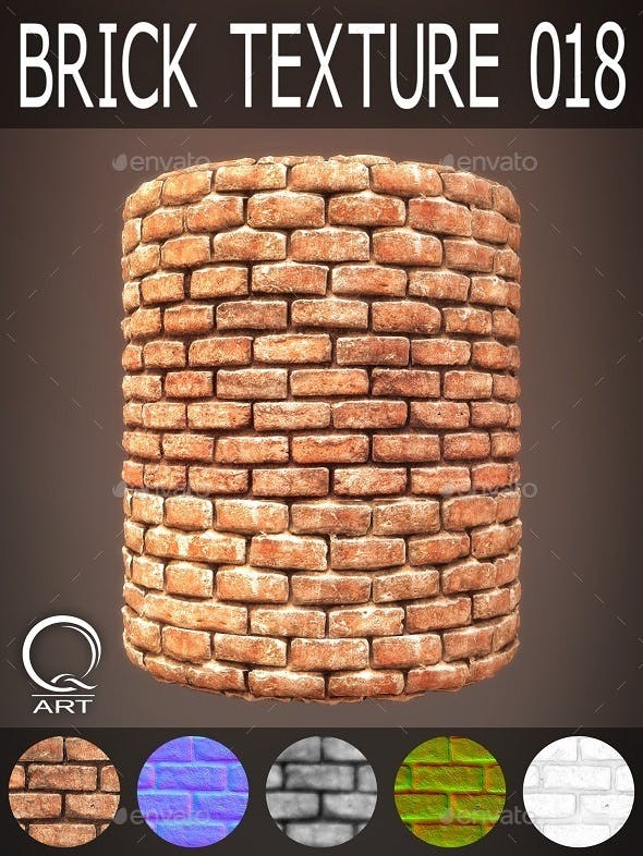 Brick Textures 018 - 3DOcean Item for Sale
