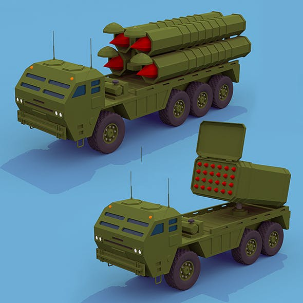 Army rocket trucks