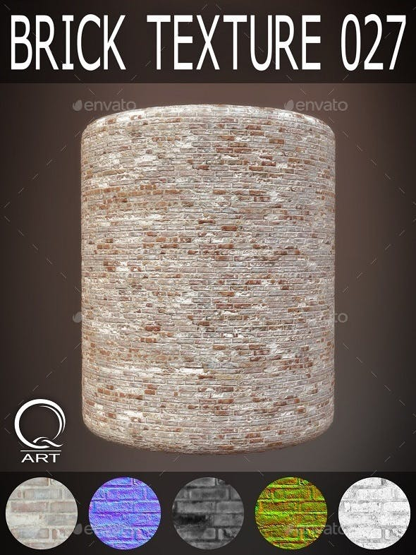Brick Textures 027 - 3DOcean Item for Sale