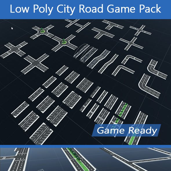 Low Poly City Road Game Pack