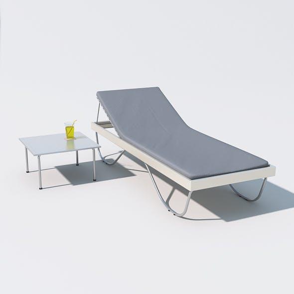 Sunbed 07 - 3DOcean Item for Sale
