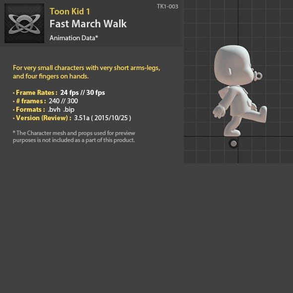 TK1-003 Fast March Walk - 3DOcean Item for Sale