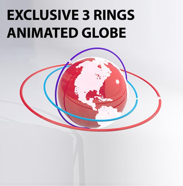 Exclusive 3D Globe Model - 3DOcean Item for Sale
