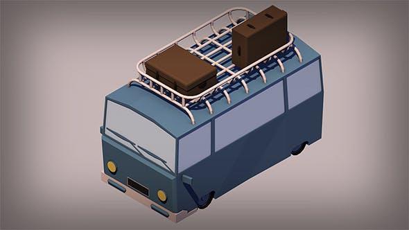 Low Poly Van - 3DOcean Item for Sale