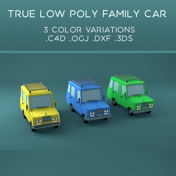 True Low poly Family Car