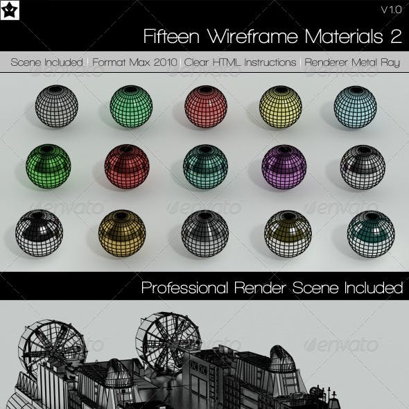 15 Wire Frame Materials 2 3ds Max