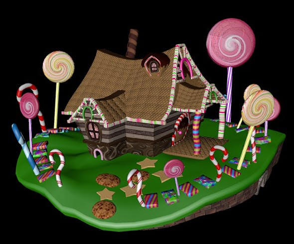 candy house - 3DOcean Item for Sale