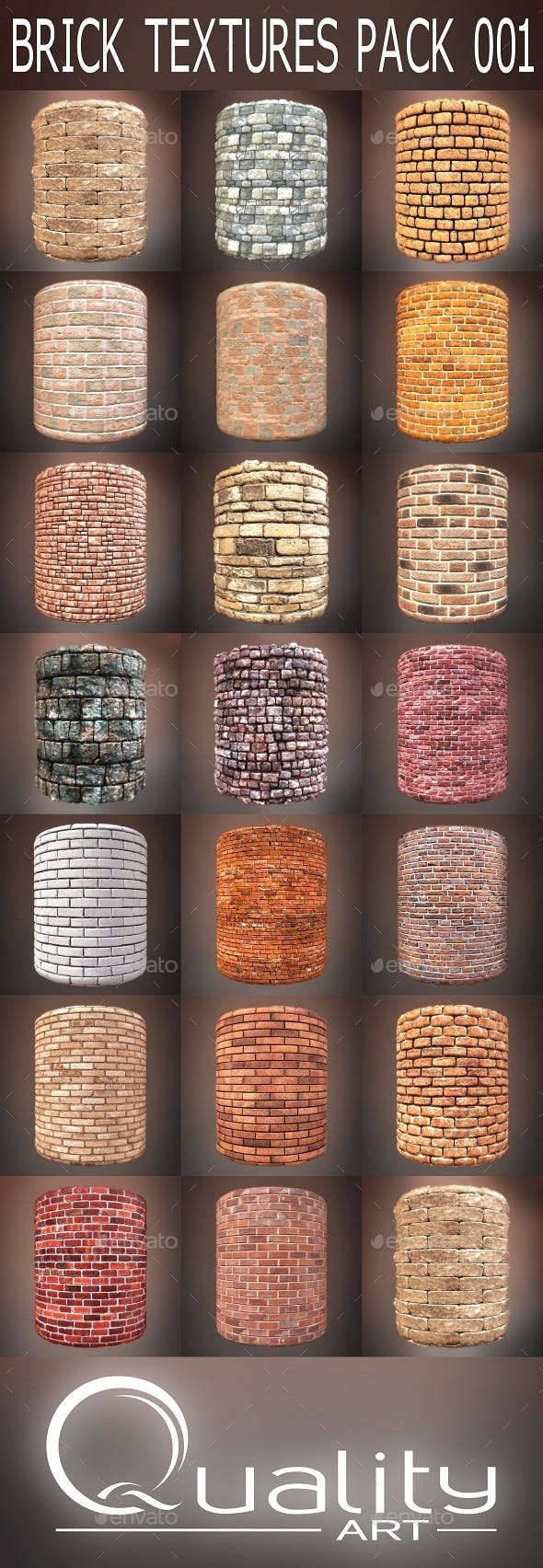 Brick Textures Pack 001 - 3DOcean Item for Sale