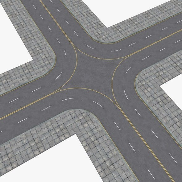 Streets and highways construction kit - 3DOcean Item for Sale