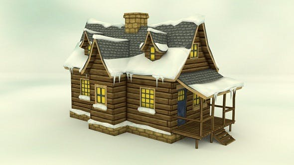 Low Poly Winter House - 3DOcean Item for Sale