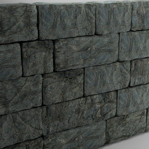 High Poly Natural Stone Wall