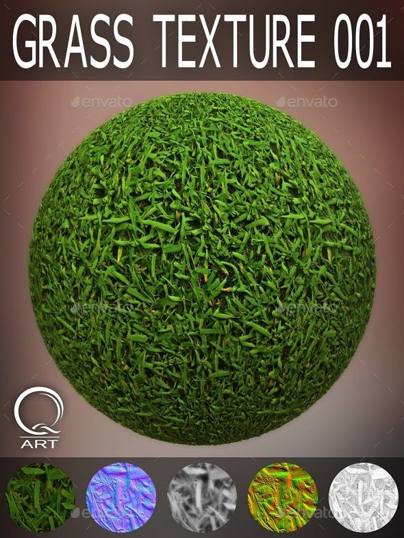 Grass Textures 001 - 3DOcean Item for Sale