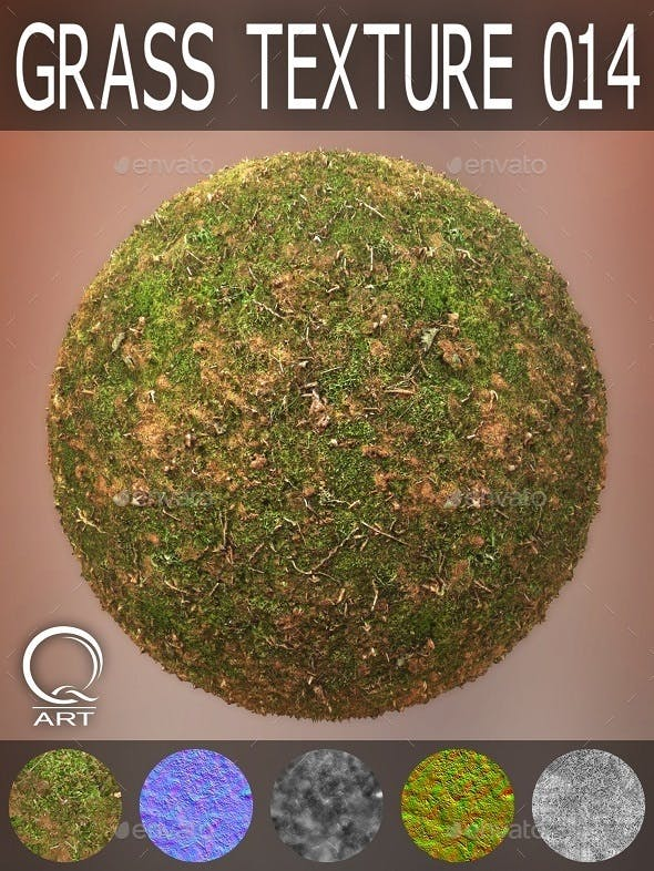 Grass Textures 014 - 3DOcean Item for Sale