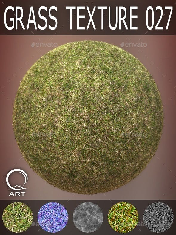 Grass Textures 027 - 3DOcean Item for Sale