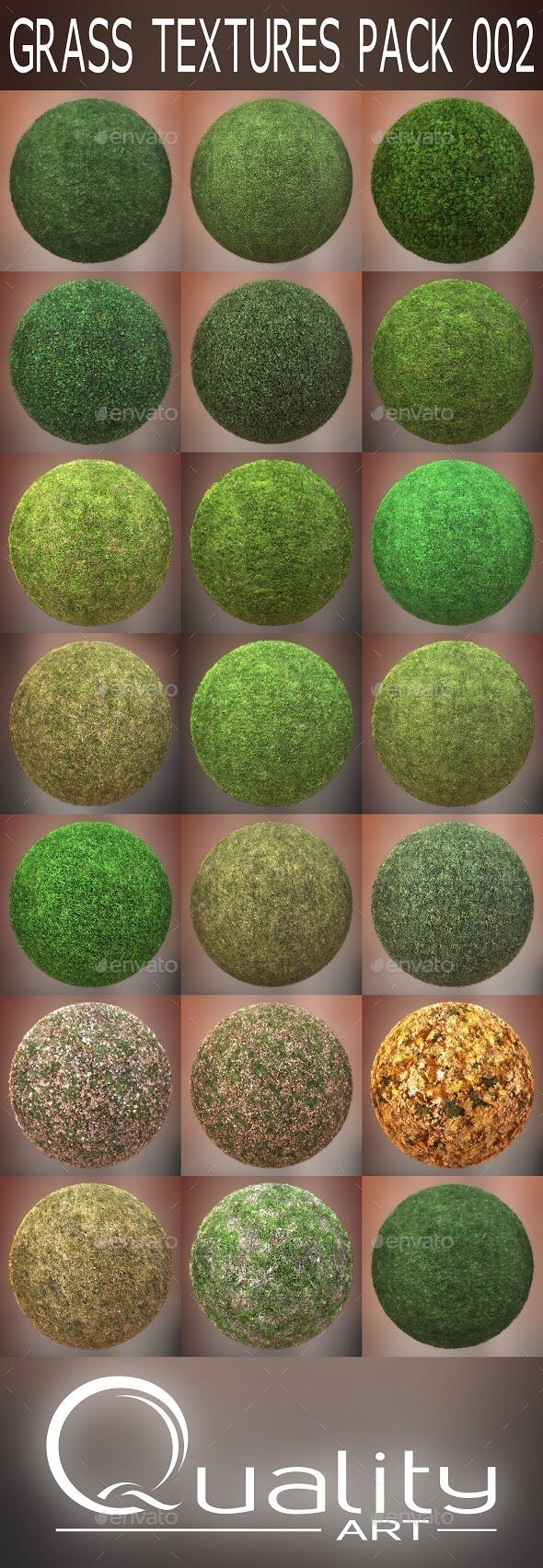 Grass Textures Pack 002 - 3DOcean Item for Sale