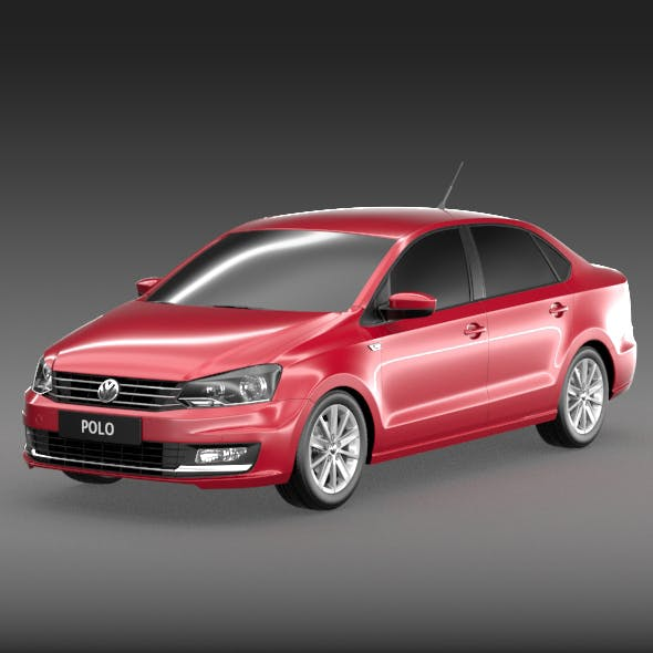 Volkswagen polo sedan 2015 - 3DOcean Item for Sale