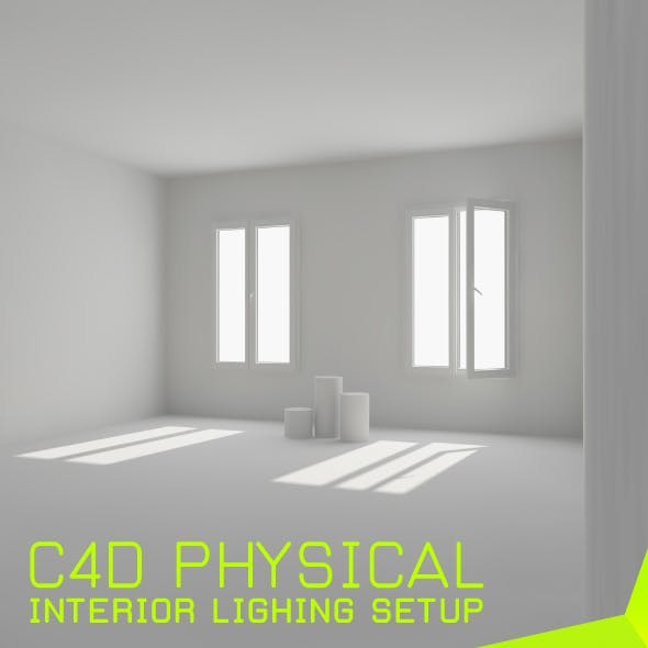interior lighting setup for c4d(physical)