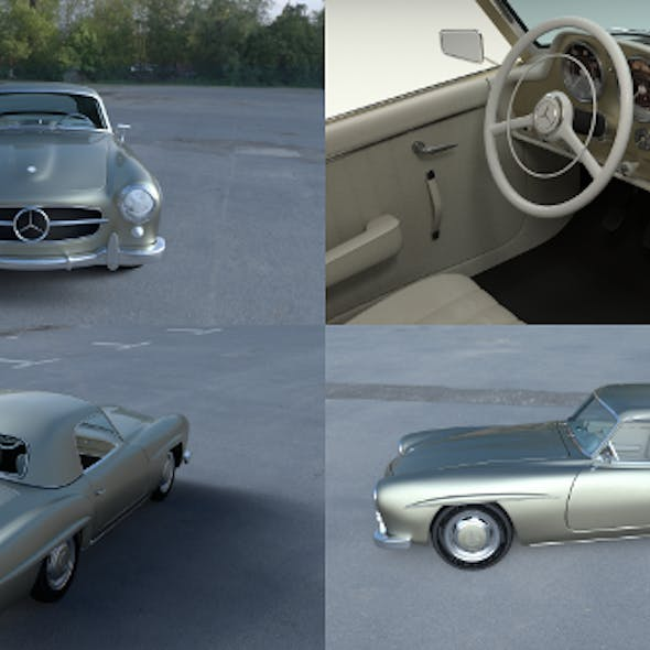 Mercedes 190SL with Interior Hard Top