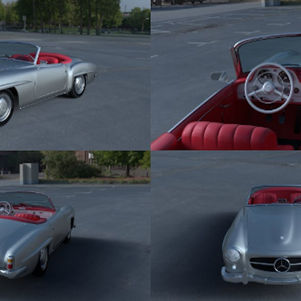 Mercedes 190SL with Interior