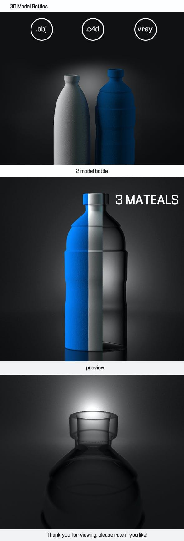 3D Model Bottles - 3DOcean Item for Sale
