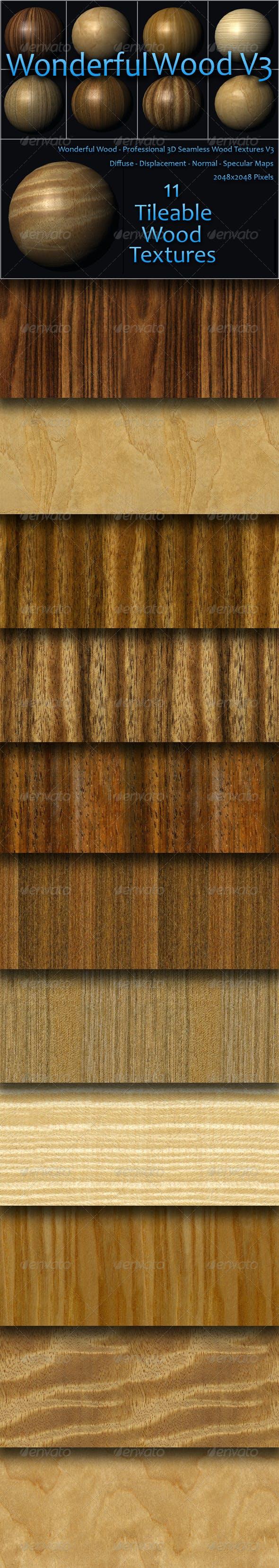 Wonderful Wood Volume Three - 3DOcean Item for Sale