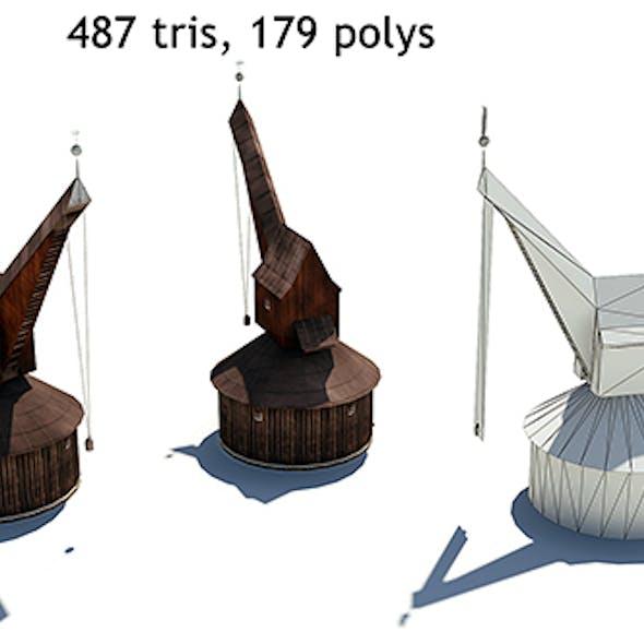 Lowpoly Medieval Crane