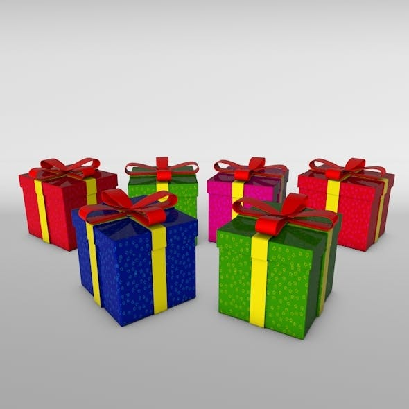 Gift Boxes Christmas - 3DOcean Item for Sale