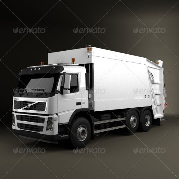 Volvo Truck 6x2 Garbage  - 3DOcean Item for Sale