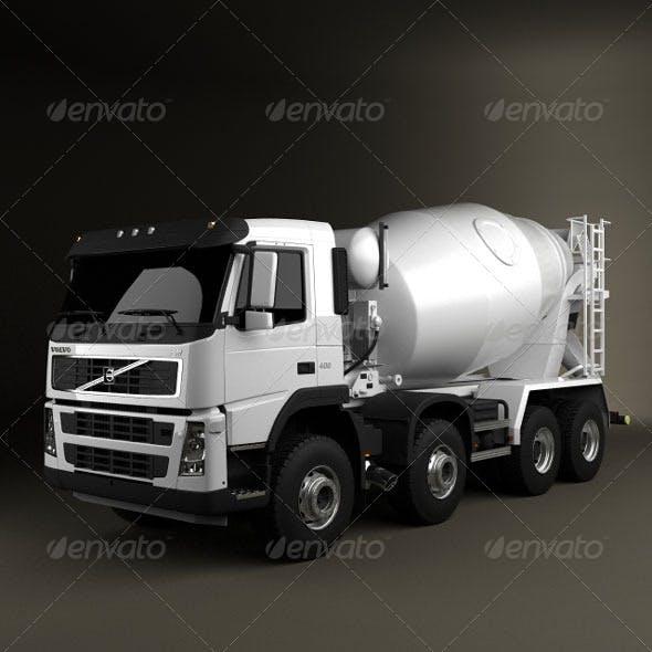 Volvo Truck 8x4 Mixer  - 3DOcean Item for Sale