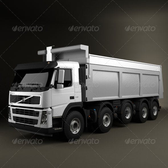 Volvo Truck 10x4 Dumper  - 3DOcean Item for Sale