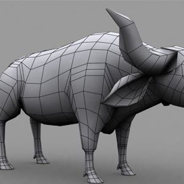 Buffalo Low Poly Model